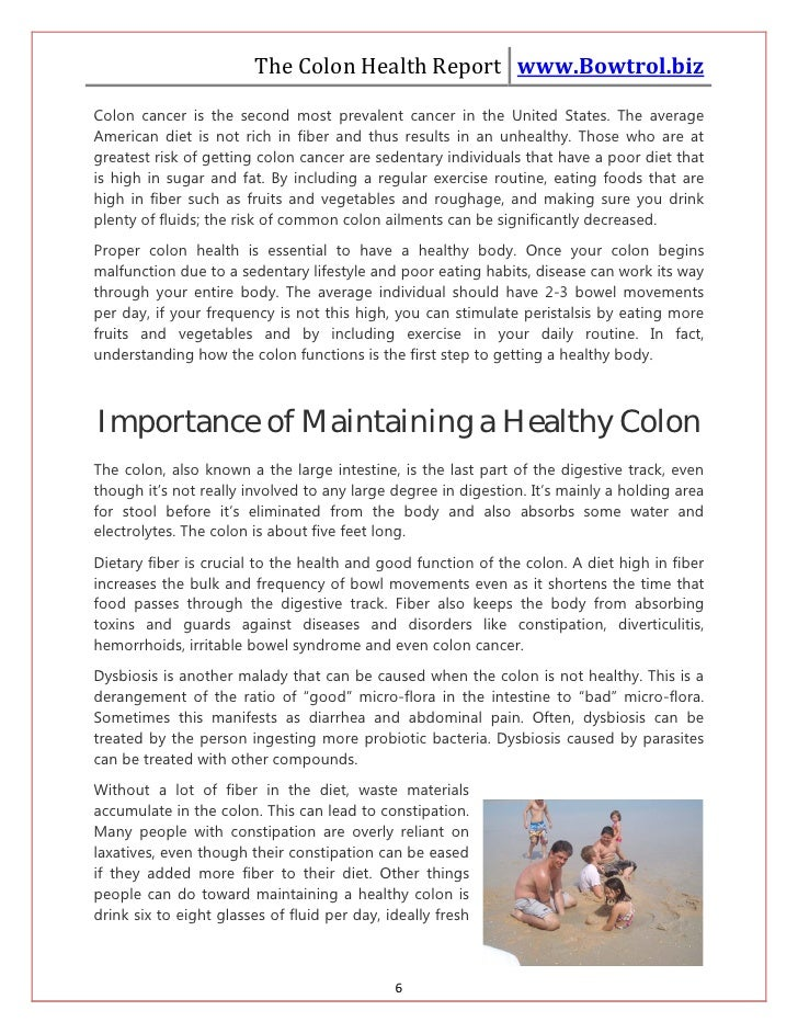 The Colon Health Report