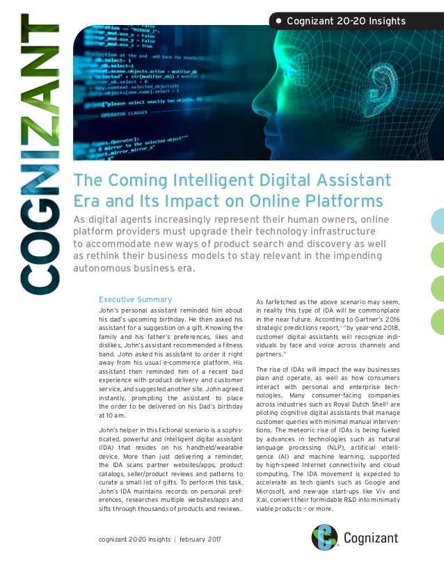 The Coming Intelligent Digital Assistant Era and Its Impact on Online Platforms As digital agents increasingly represent t...