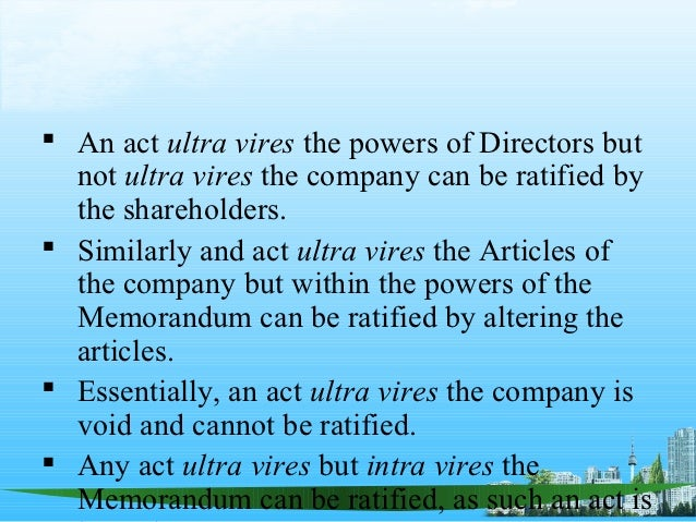 ultra vires doctrine of company law in zambia Contemporary issues in zambian and english company law :  introduction --capacity of a company and the ultra vires doctrine --the par value concept and paying.