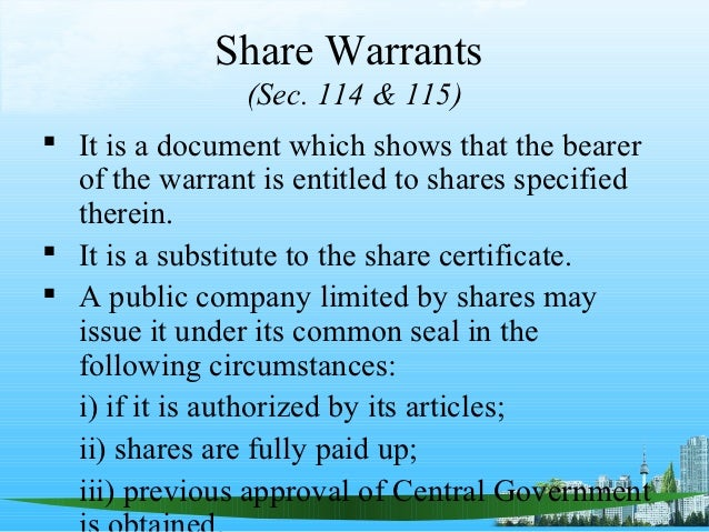 The companiesact1956ppt – Company Share Certificates