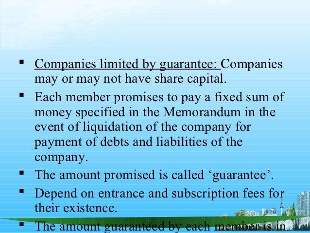 Liquidating a company limited by guarantee memorandum