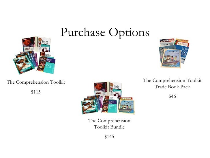 comprehension toolkit trade book pack