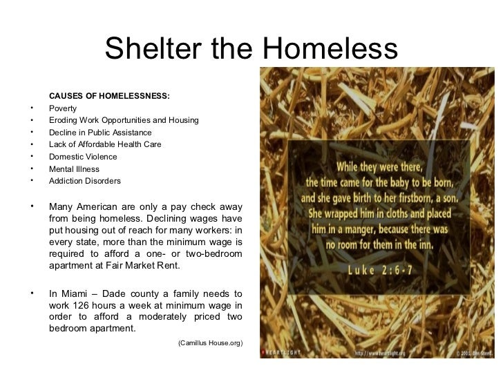 how should we treat the homeless