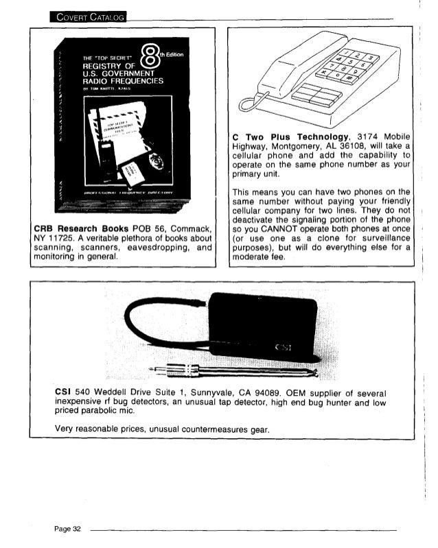 The covert catalog