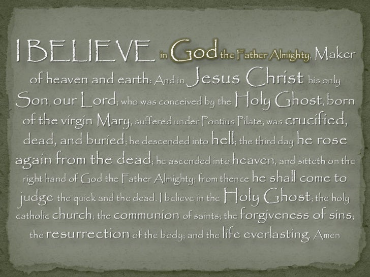 The Creed - I Believe In God