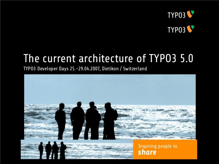 "Gimme Five!architecture of TYPO3 5.0The currentThe road to TYPO3 5.0 ""Phoenix""TYPO3 Developer Days 25.-29.04.2007, Dietiko..."