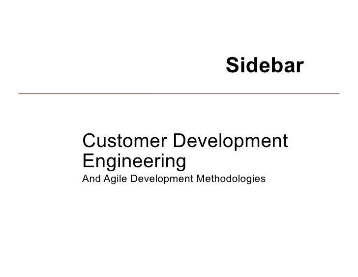 The Customer Development Methodology