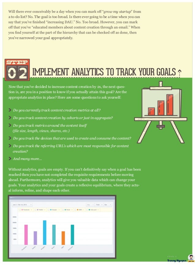 """IMPLEMENT ANALYTICS TO TRACK YOUR GOALS grow my startup"""" from a to-do list? No. The goal is too broad. Is there ever going..."""