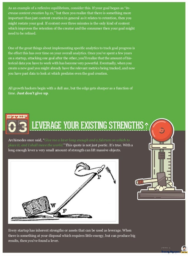 """LEVERAGE YOUR EXISTING STRENGTHS Archimedes once said, """"Give me a lever long enough and a fulcrum on which to place it, an..."""