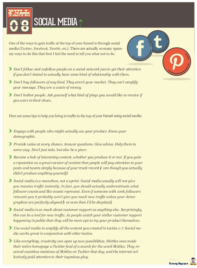 SOCIAL MEDIA 08 pull tactic pull tactic ugh social media (T w itter , F acebook, T um blr , etc. ). There are actually so ...