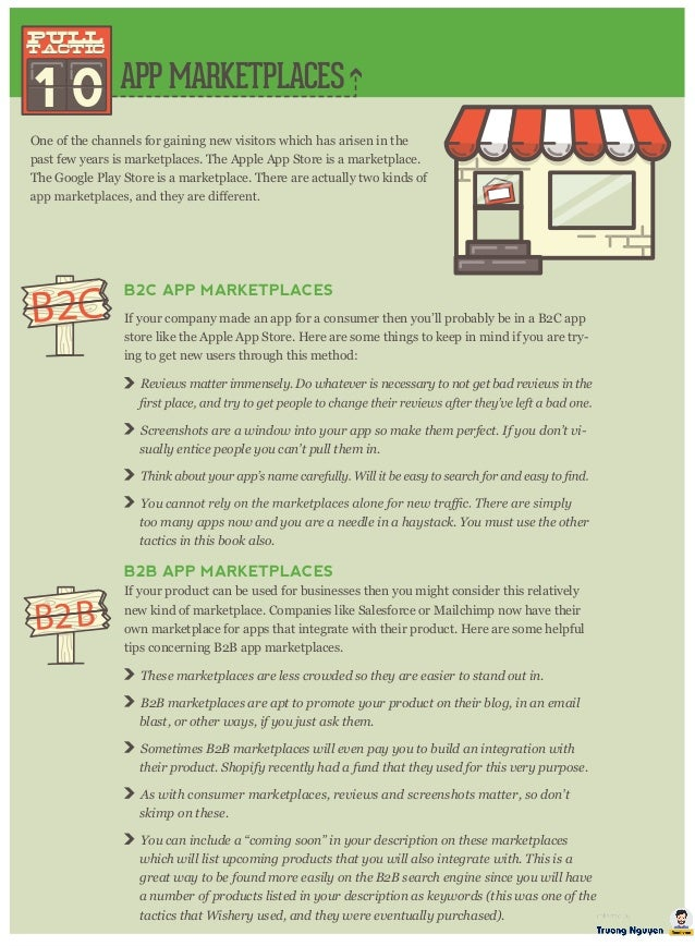 APP MARKETPLACES 1 0 pull tactic pull tactic One of the channels for gaining new visitors which has arisen in the past few...