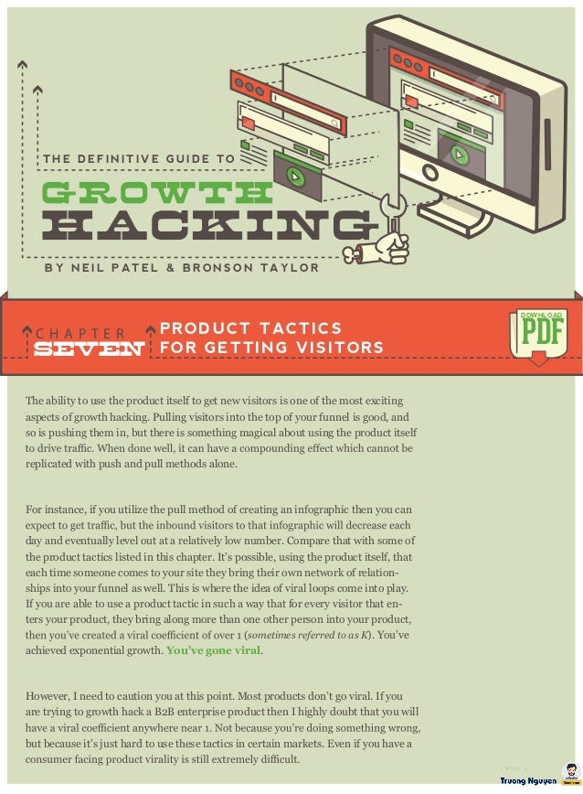 The ability to use the product itself to get new visitors is one of the most exciting aspects of growth hacking. Pulling v...