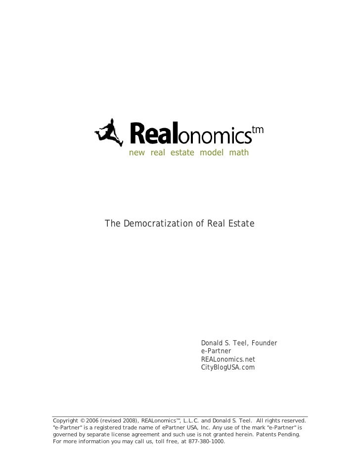 new real estate model math                        The Democratization of Real Estate                                      ...