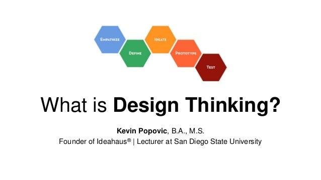 The Design Thinking Workshop @ SDSU Slide 2