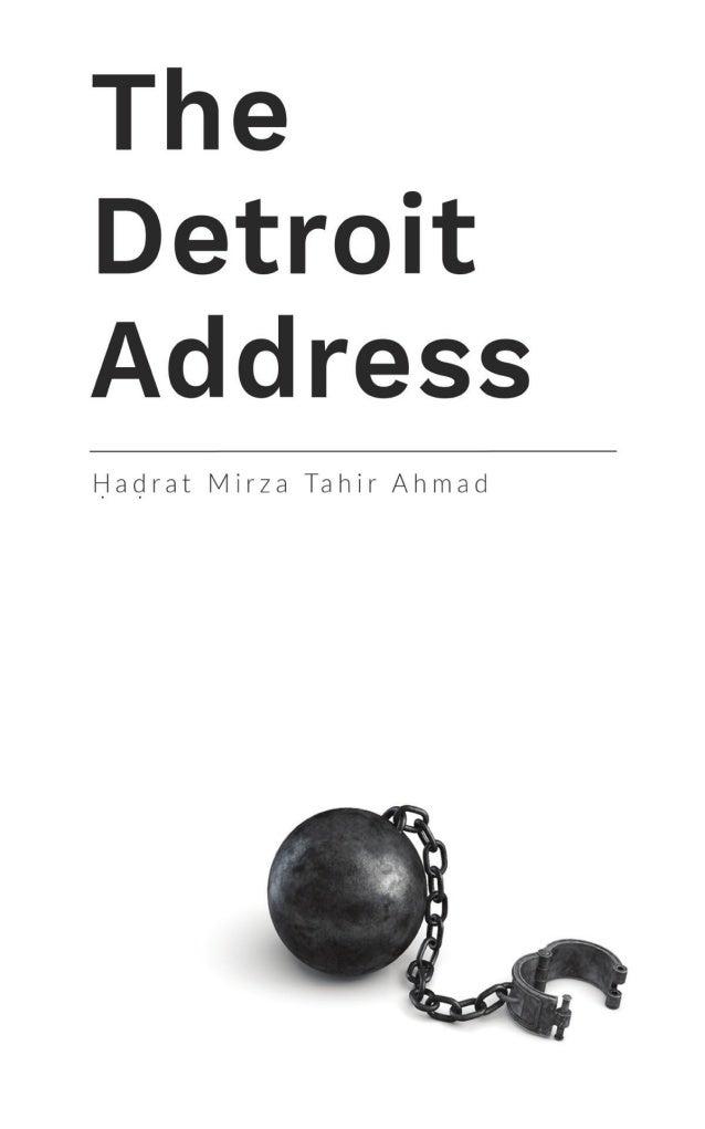 TheDetroitAddress by Hadrat Mirza Tahir Ahmadrta Majlis Khuddamul Ahmadiyya USA