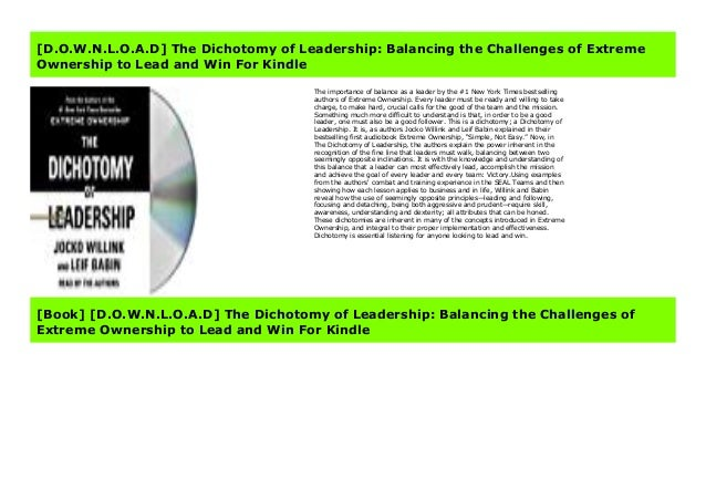 The dichotomy of leadership quotes