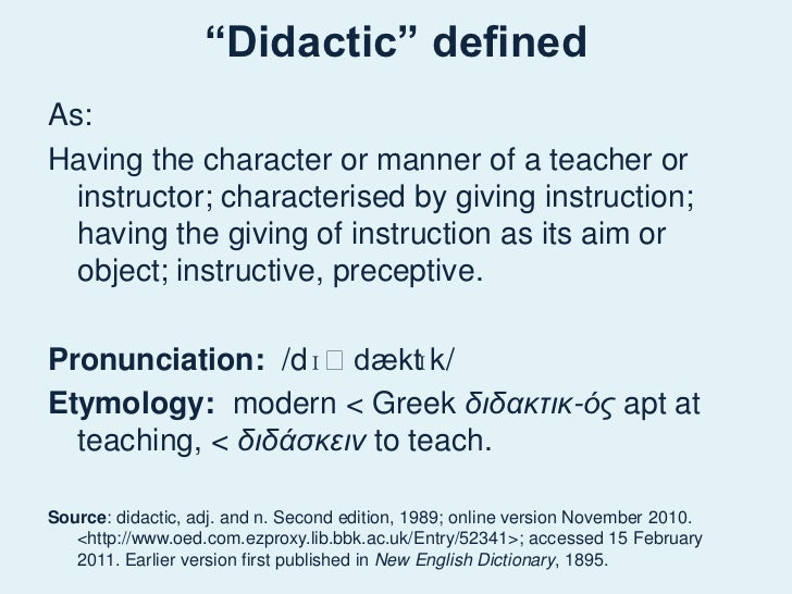 what is didactic instruction