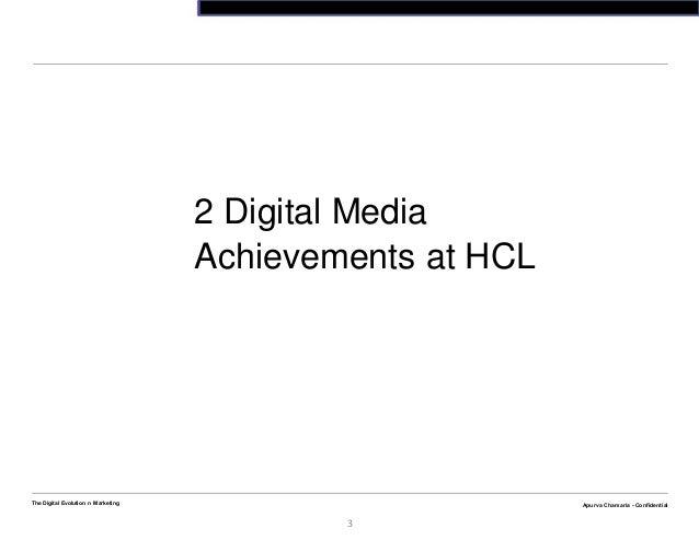 Apurva Chamaria - ConfidentialThe Digital Evolution n Marketing3Apurva Chamaria - Confidential2 Digital MediaAchievements ...