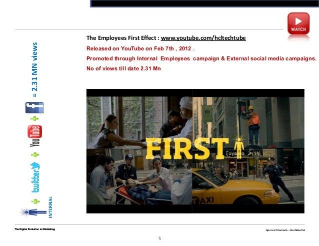 Apurva Chamaria - ConfidentialThe Digital Evolution n Marketing5Apurva Chamaria - ConfidentialThe Employees First Effect :...