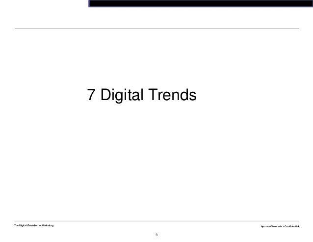 Apurva Chamaria - ConfidentialThe Digital Evolution n Marketing6Apurva Chamaria - Confidential7 Digital Trends