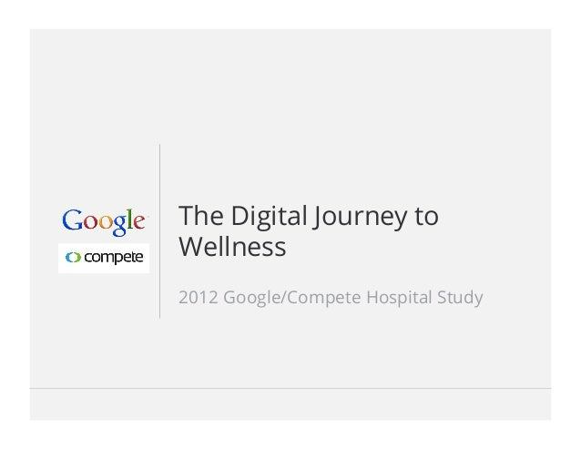 Google Confidential and Proprietary 1Google Confidential and Proprietary 1The Digital Journey toWellness2012 Google/Compete ...