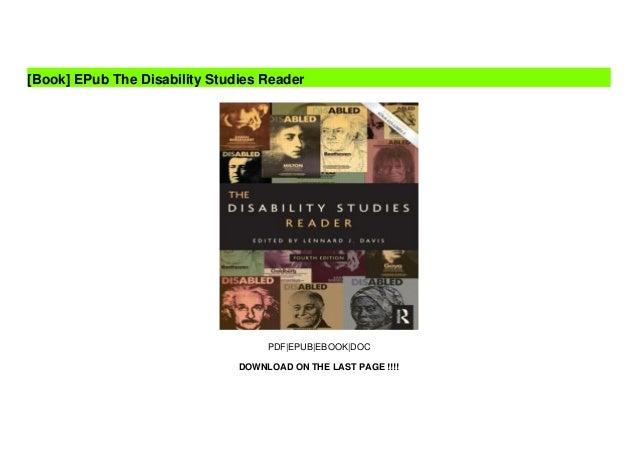 EPub The Disability Studies Reader  Slide 2