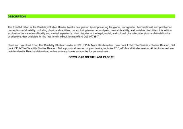 EPub The Disability Studies Reader  Slide 3