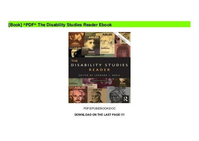 ^PDF^ The Disability Studies Reader Ebook Slide 2