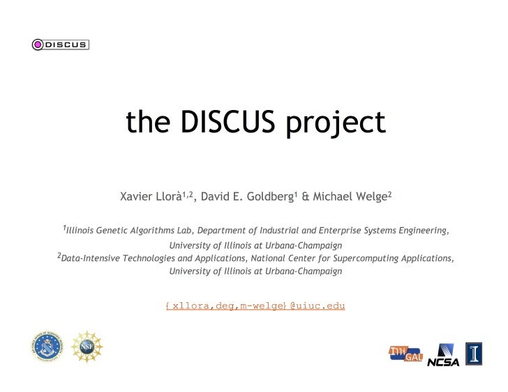 The DISCUS project
