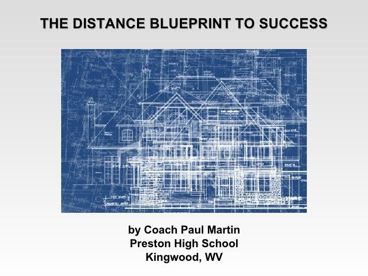 THE DISTANCE BLUEPRINT TO SUCCESS by Coach Paul Martin Preston High School Kingwood, WV