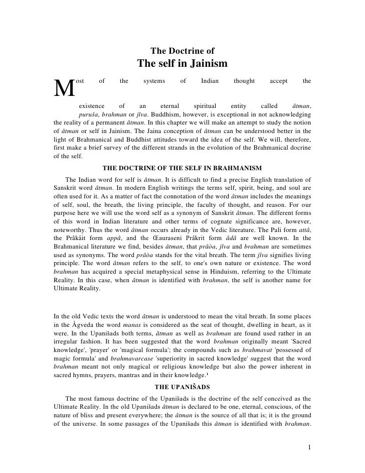 The Doctrine of                               The self in Jainism        ost     of      the      systems       of     Ind...