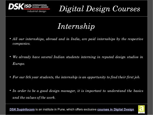Dsk international campus offers advanced education in for Architecture firms for internship in pune