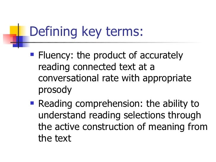 The Effects Of Fluency On Reading Prehension
