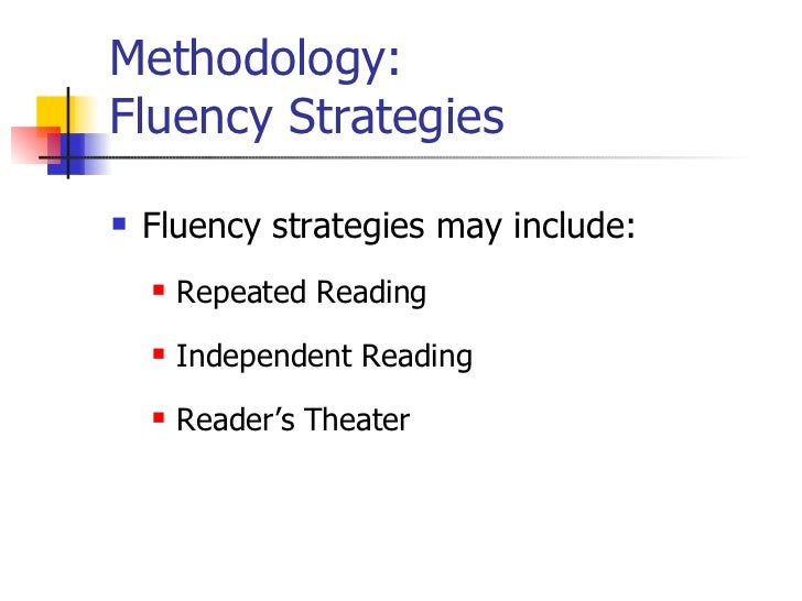 reading fluency and its effect on Many students with learning disabilities (ld) struggle to develop reading fluency,  which affects reading comprehension this synthesis extends chard, vaughn,.