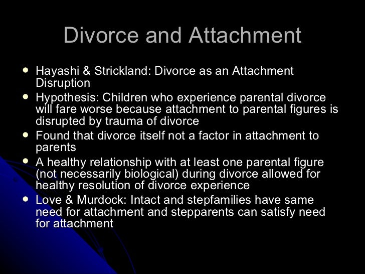 TIFFANY: Effects of divorce on adult