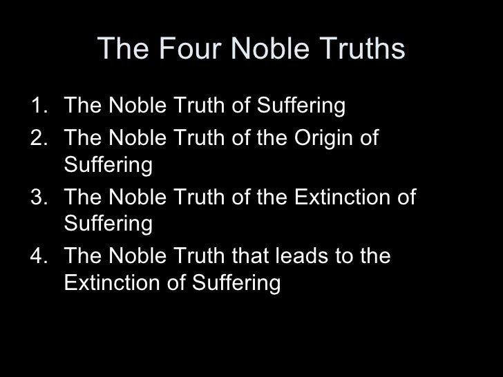 four noble truths of buddhism summary