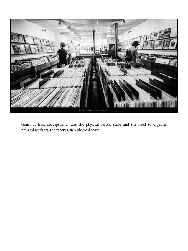 Record store in Toronto (Image: blogto.com) Gone, at least conceptually, was the physical record store and the need to org...