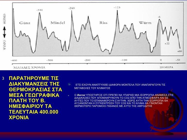 <ul><li>ΠΑΡΑΤΗΡΟΥΜΕ ΤΙΣ ΔΙΑΚΥΜΑΝΣΕΙΣ ΤΗΣ ΘΕΡΜΟΚΡΑΣΙΑΣ ΣΤΑ ΜΕΣΑ ΓΕΩΓΡΑΦΙΚΑ ΠΛΑΤΗ ΤΟΥ Β. ΗΜΙΣΦΑΙΡΙΟΥ ΤΑ ΤΕΛΕΥΤΑΙΑ 400.000 ΧΡ...