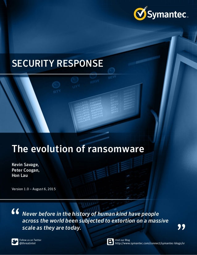 WHITE PAPER▶ The Evolution of Ransomware