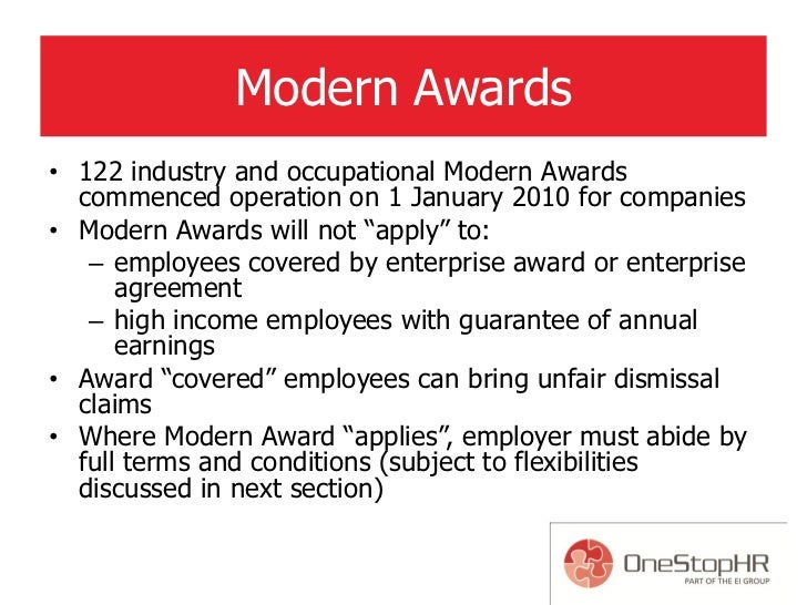 The fair work act key challenges for smes 43 modern awards platinumwayz