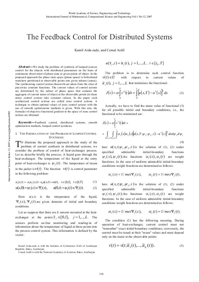 World Academy of Science, Engineering and Technology International Journal of Mathematical, Computational Science and Engi...
