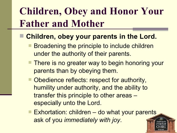 essay on obeying your parents Obeying your parents quotes - 1 always obey your parents - when they are present read more quotes and sayings about obeying your parents.