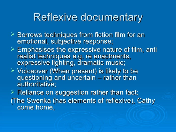the five modes of documentary typical conventions