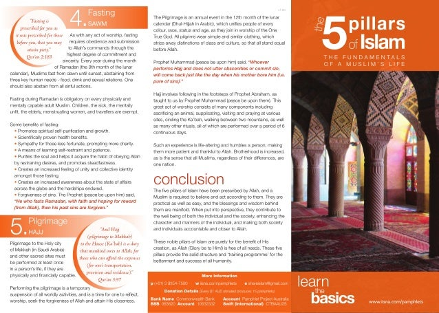 The Five Pillars of Islam The Fundamentals of Muslim's Life
