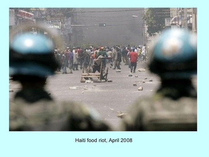 Haiti food riot, April 2008