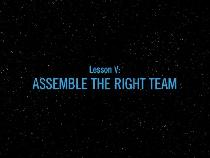 a new kind of project needs...             In forming ILM, Lucas pulled               people who worked on           comme...