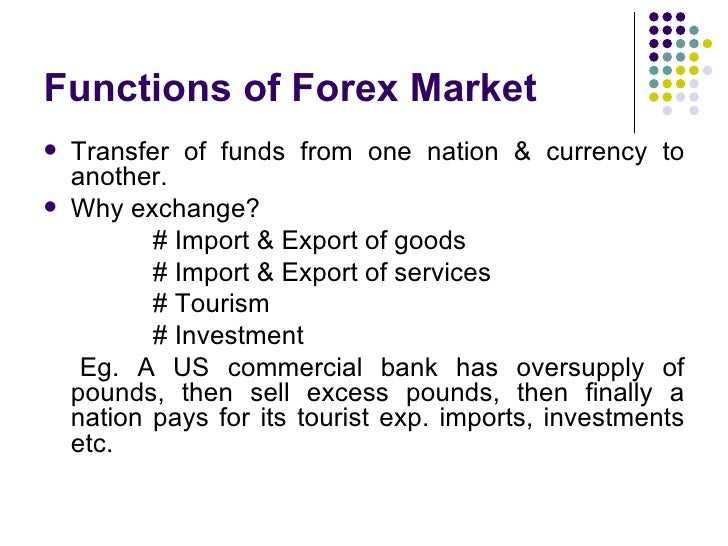 Foreign exchange currency market