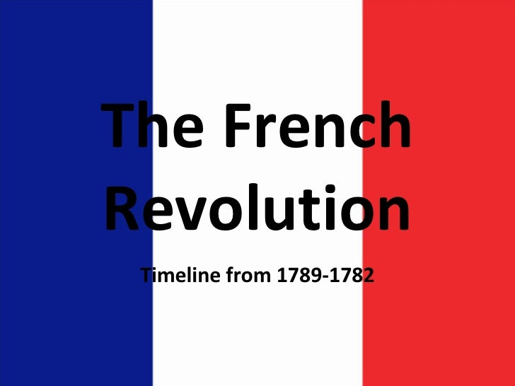 The French Revolution Timeline from 1789-1782