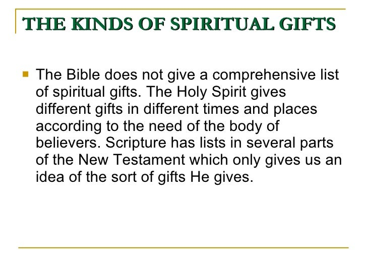 The fruits and gifts of the holy spirit 10 the kinds of spiritual gifts negle