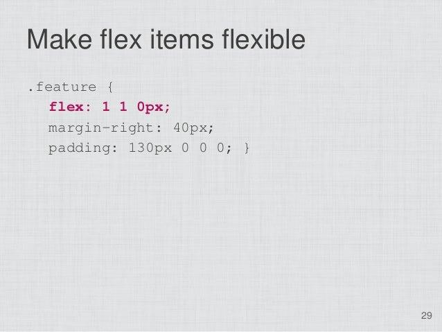 Make flex items flexible.feature {   flex: 1 1 0px;   margin-right: 40px;  padding: 130px 0 0 0; }                        ...